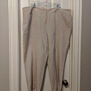 Lane Bryant Linen Pants in light khaki size 24w